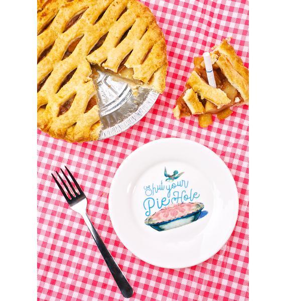 Sourpuss Clothing Shut Your Piehole Dessert Plate