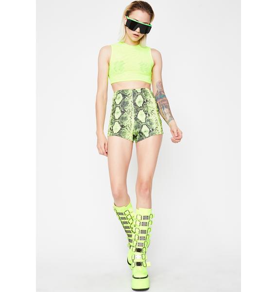 Wicked Showdown Snakeskin Shorts