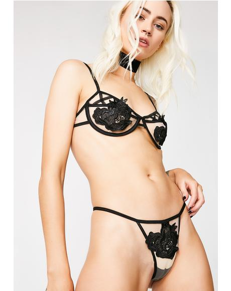 Blissed Out Strappy Lingerie Set