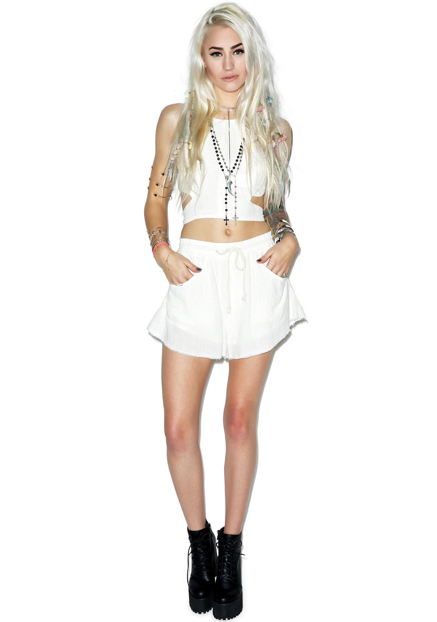 Somedays Lovin Concho River Linen Shorts