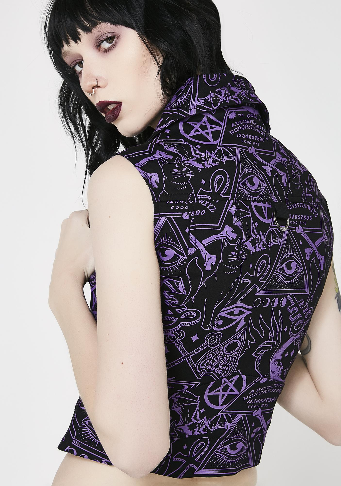 Killstar Miss Morbid Cropped Biker Vest