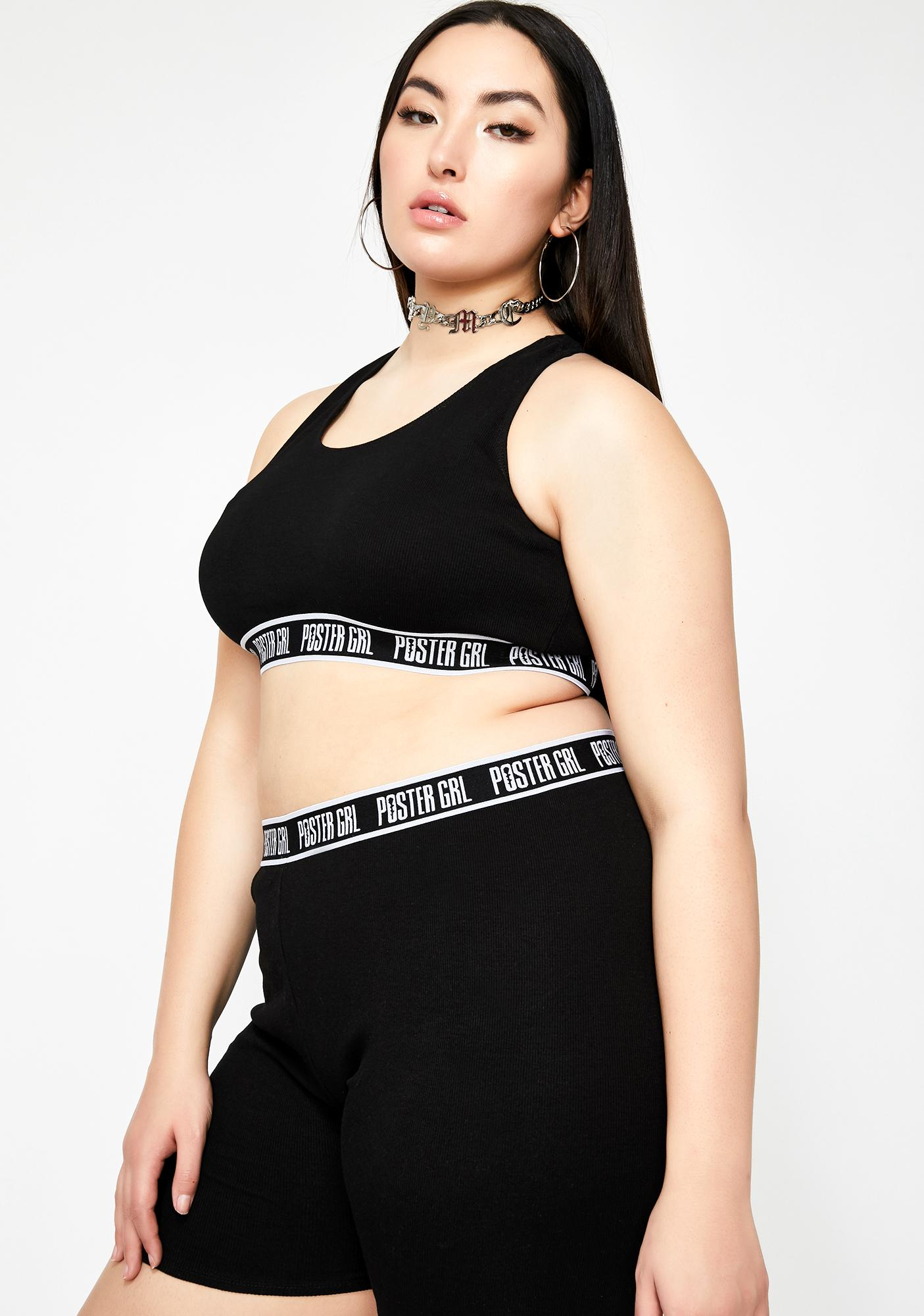 Poster Grl Night Go Boss Mode Sports Bra