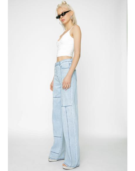 Orion Denim Wide Leg Pants