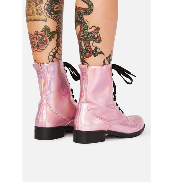 Pixie I Am Your Leader Hologram Boots