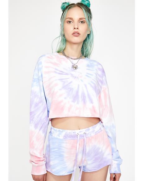 Moody Mystic Crop Sweatshirt