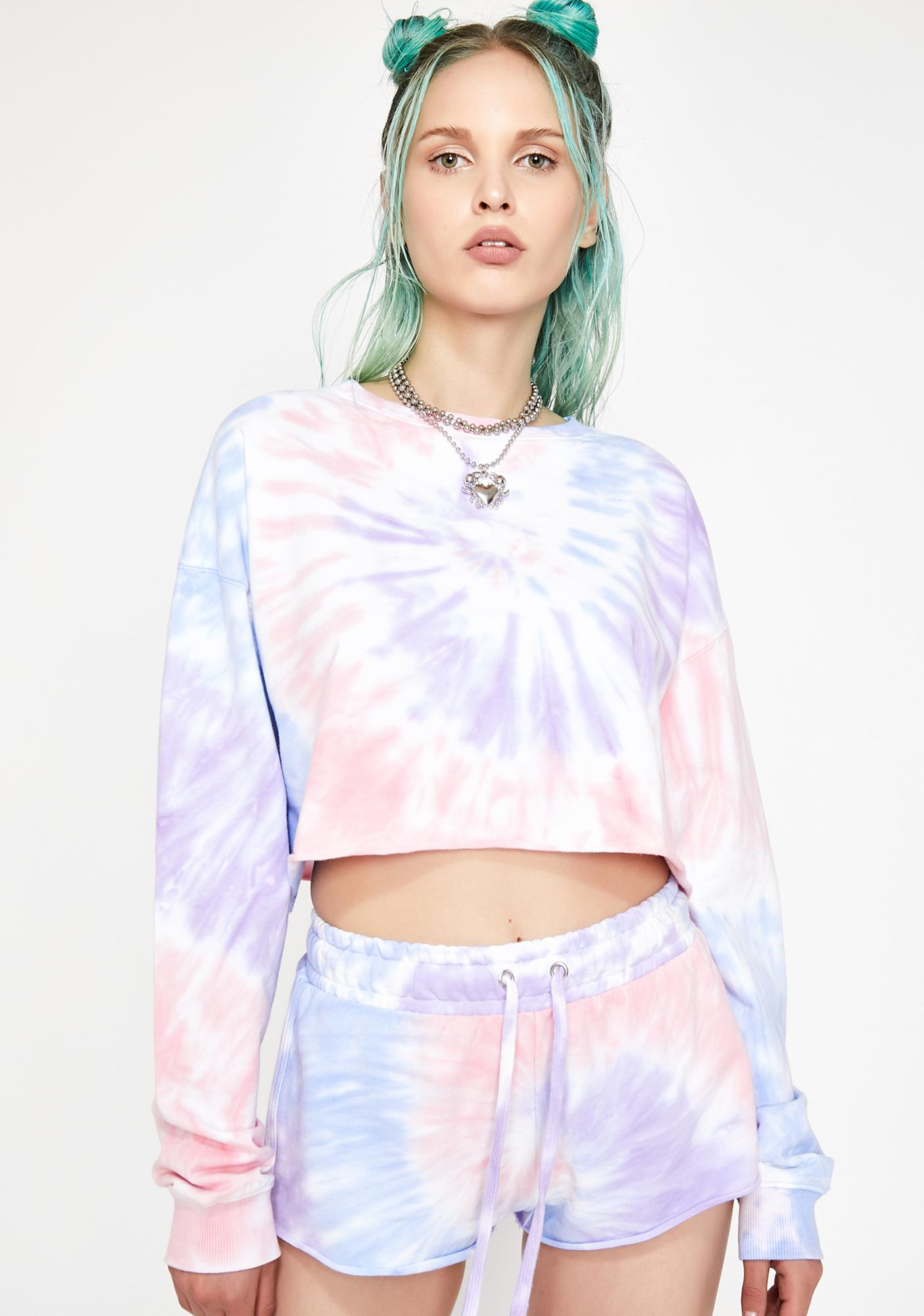 HOROSCOPEZ Moody Mystic Crop Sweatshirt