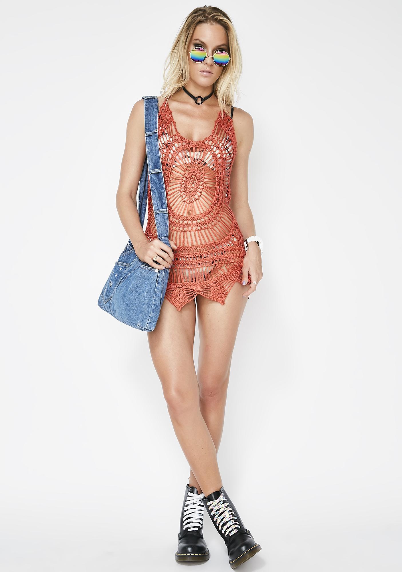 Happy Times Crochet Dress