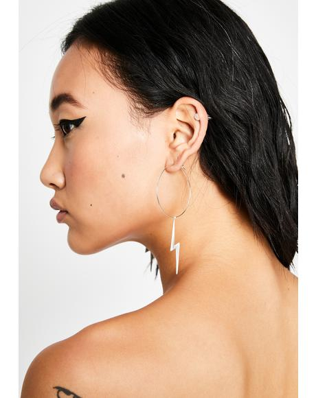 Lightning In A Bottle Hoop Earrings