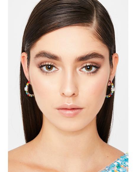 Luxe Motions Rhinestone Earrings