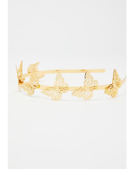 Fairy Treasure Butterfly Headband