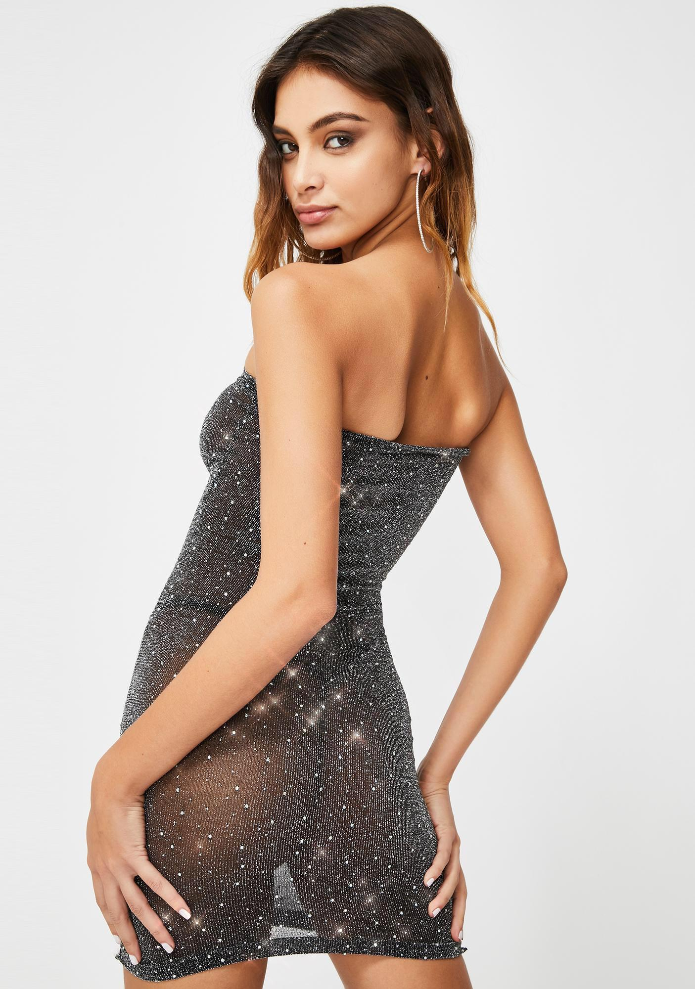 Decked In Ice Sheer Dress