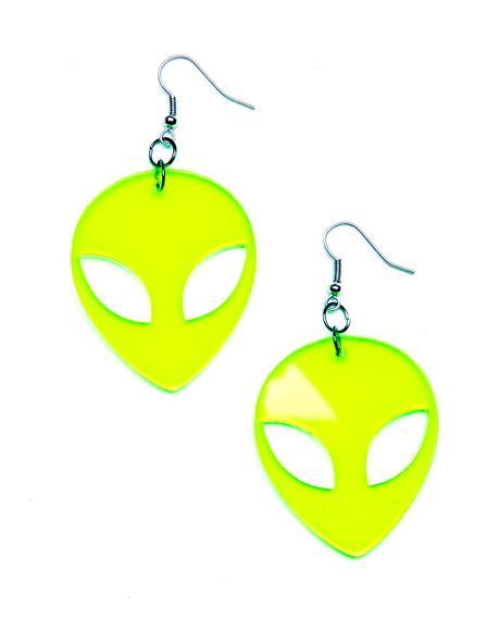 Alien Baby Earrings