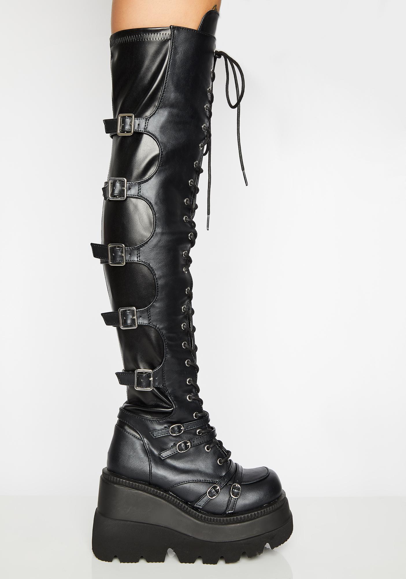 Demonia Earth Shaker Platform Boots