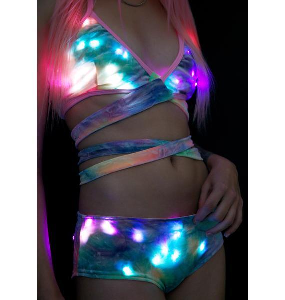 J Valentine Luminous Velvet Light-Up Boy Shorts