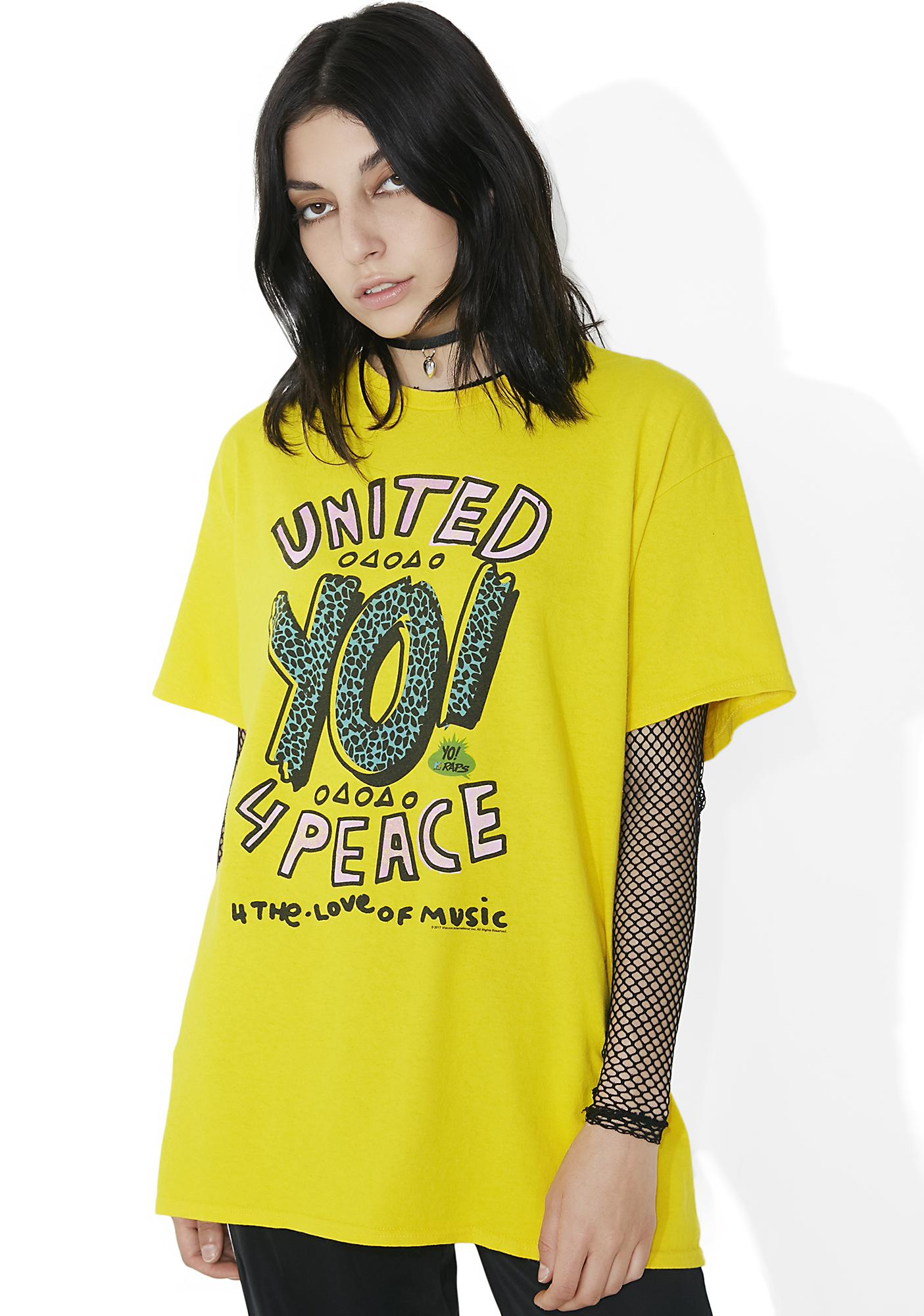 Junk Food Clothing United 4 Peace Graphic Tee