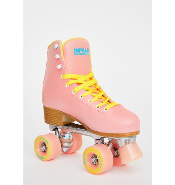 Impala Rollerskates Pink Impala Quad Skates
