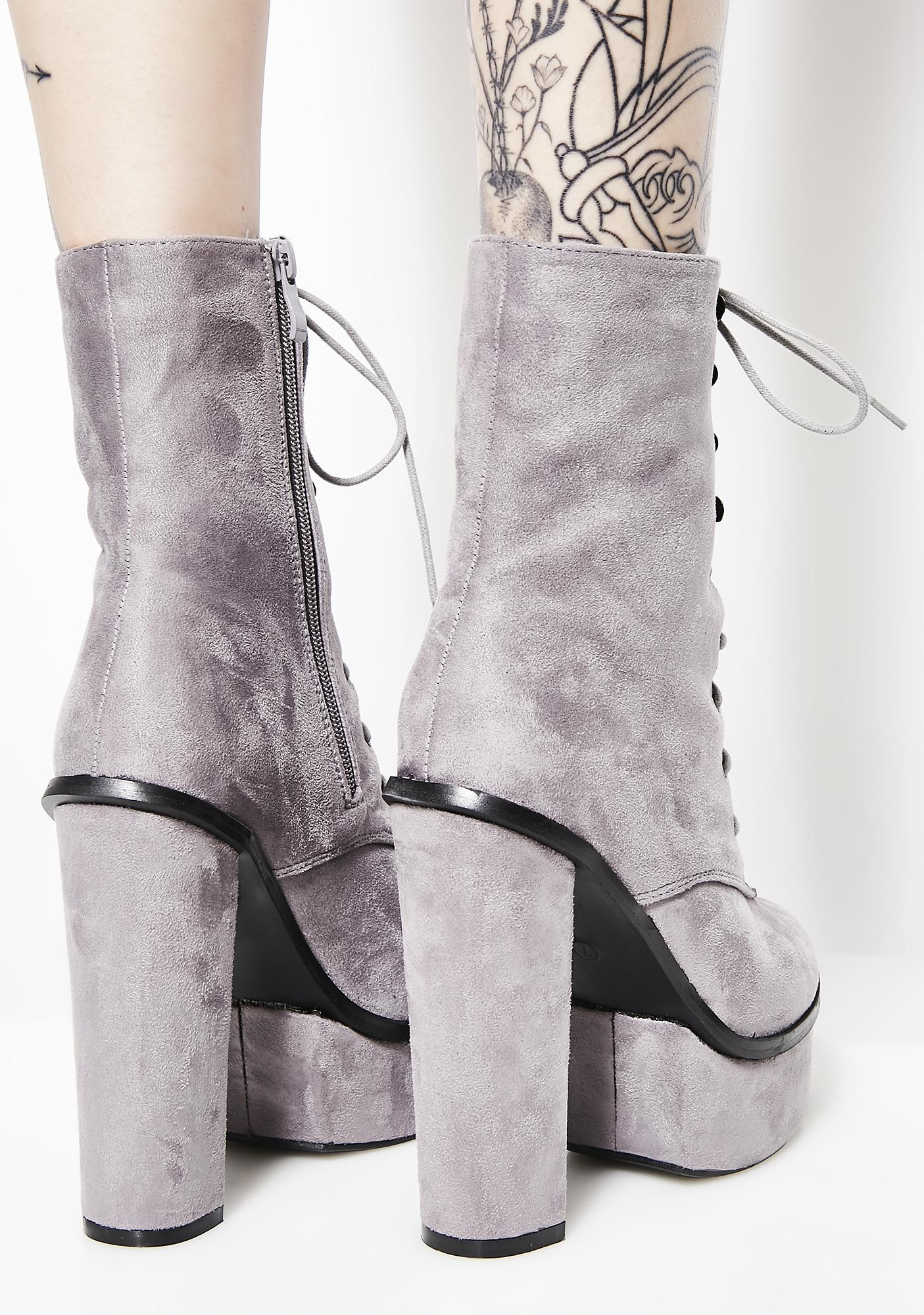 Smoke All In It Platform Booties