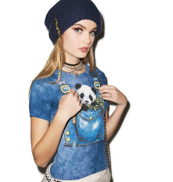 Panda in Overalls Top