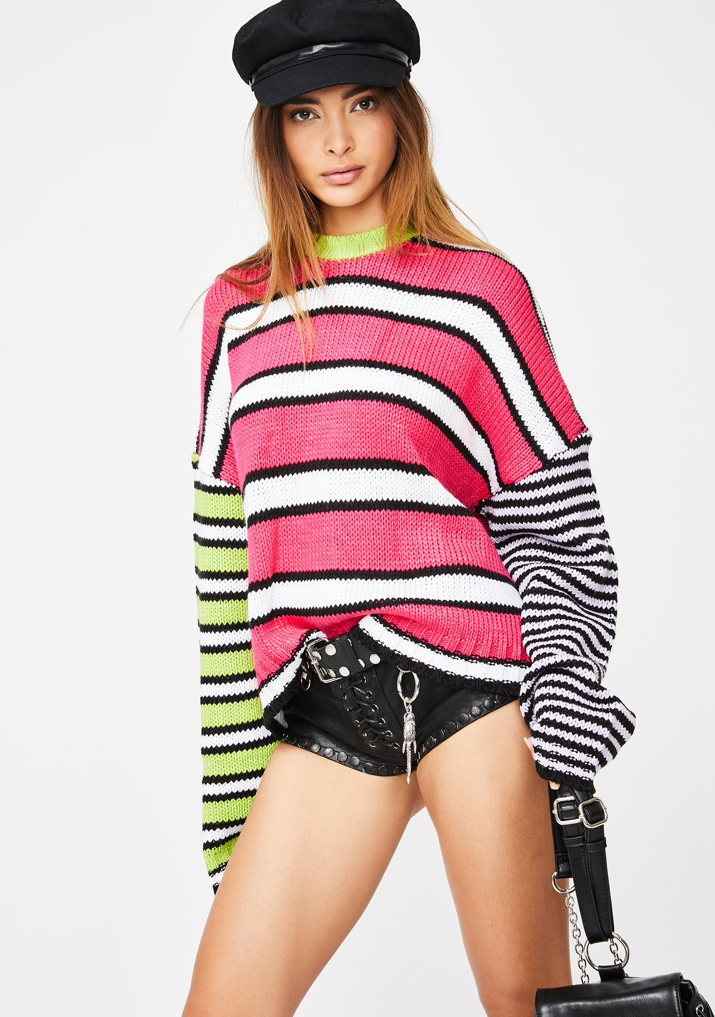 The Ragged Priest Almost Knit Stripe Sweater