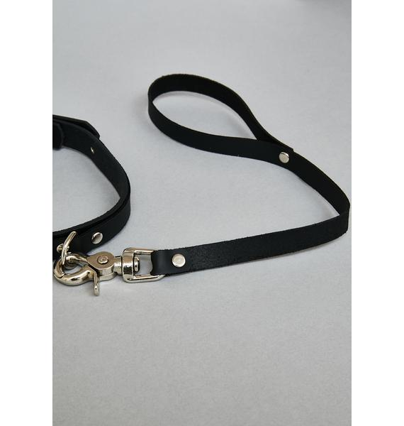 Funk Plus Vegan Leather Collar & Leash