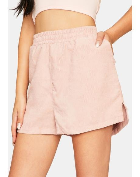 Dust Pink Cord Boxing Short