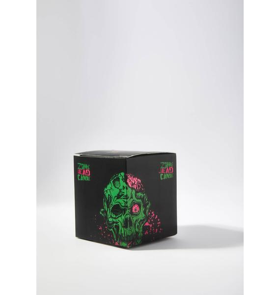 Give Me Brains Zombie Head Candle
