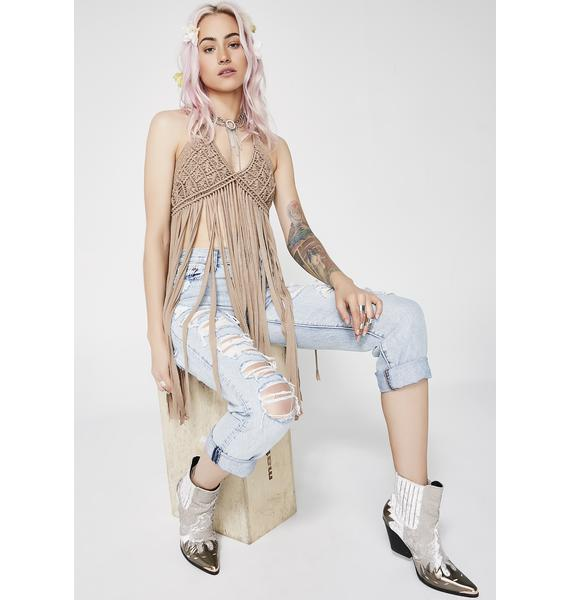 True Nature Fringe Top