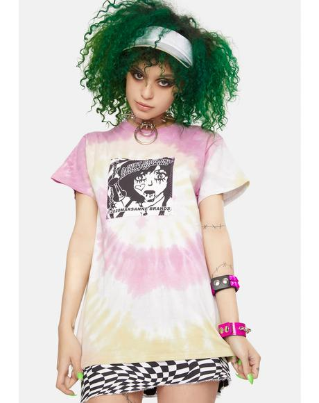 Kawaii Tie Dye Graphic Tee