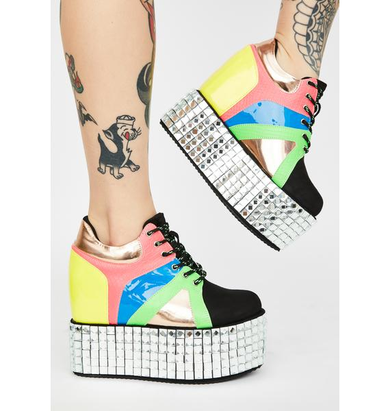 Funky Disco Stomp Platform Sneakers