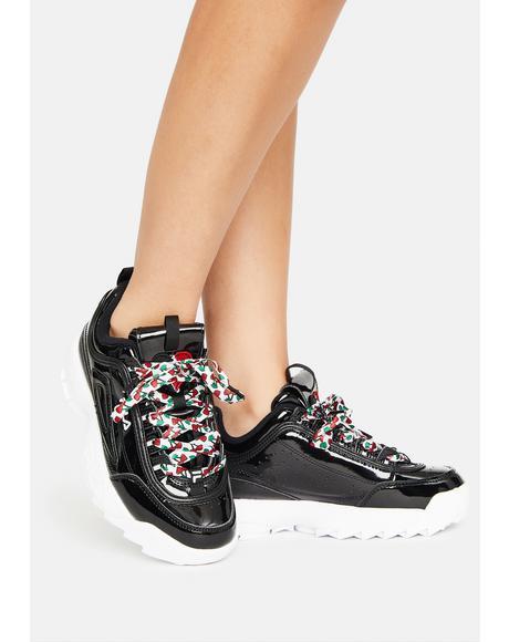 Noir Disruptor 2 Heart Sneakers