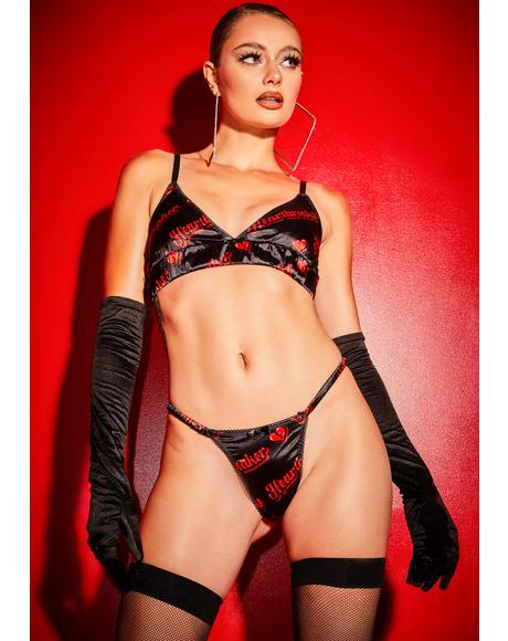 Tip Of My Tongue Satin Lingerie Set