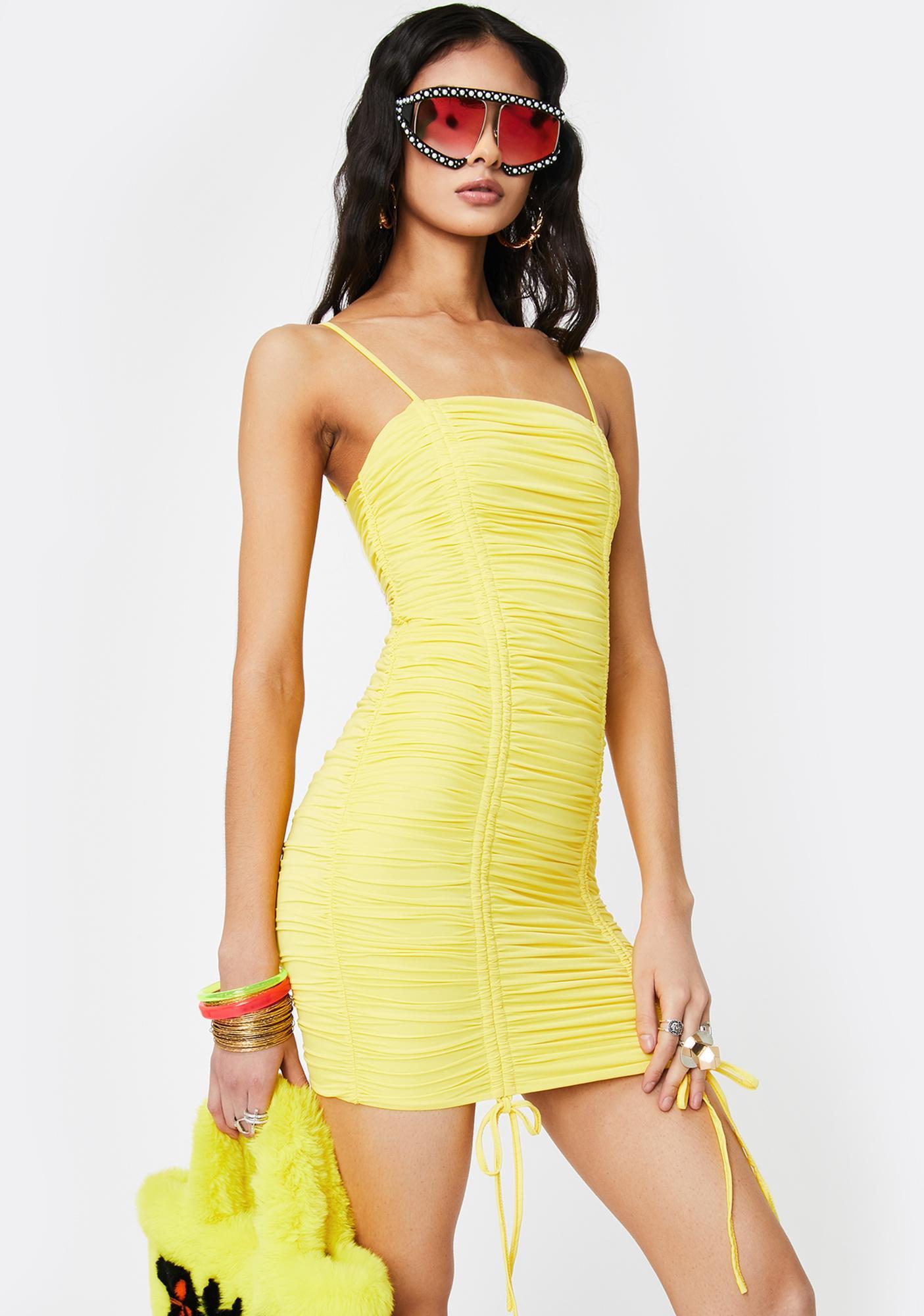 Tiger Mist Yellow Zion Mini Dress