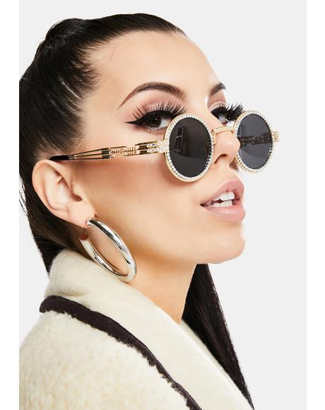 Bad N' Groovy Rhinestone Sunglasses