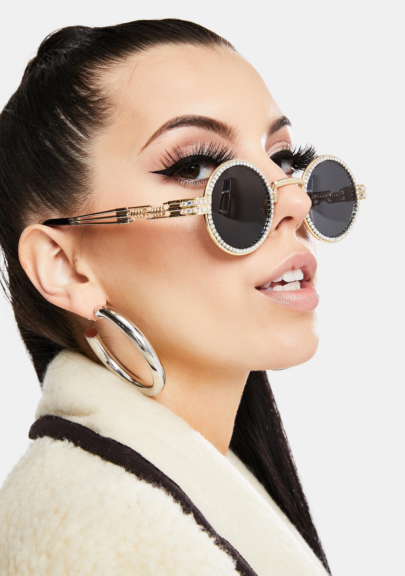 Bad N' Groovy Rhinestone Sunglasses