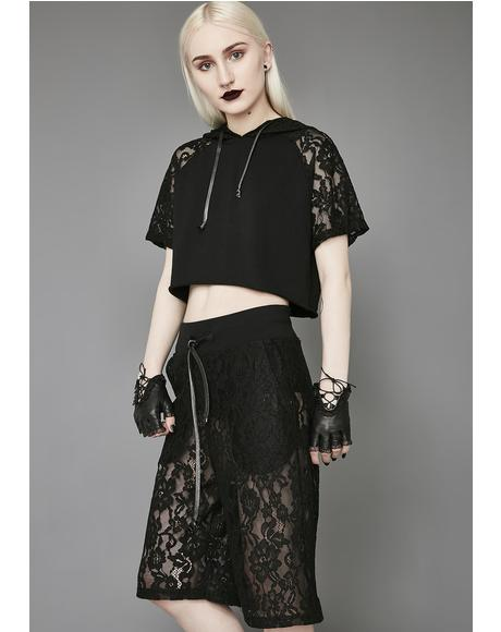 Night Falls Lace Shorts