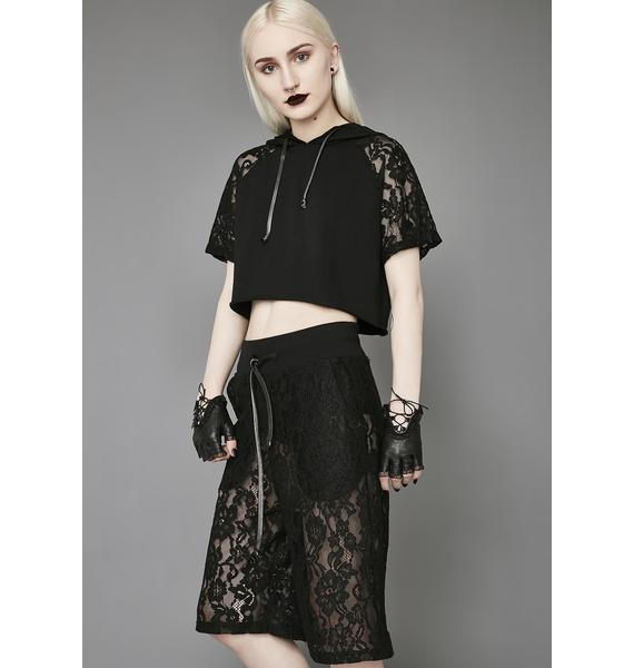 Widow Night Falls Lace Shorts