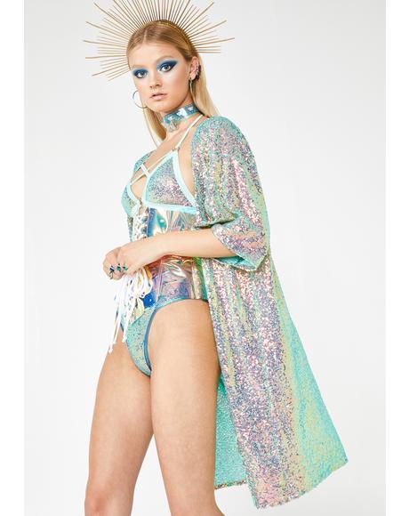 Geode Sequin Kimono
