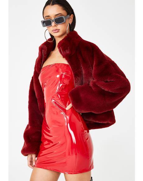 Kyra Vinyl Dress
