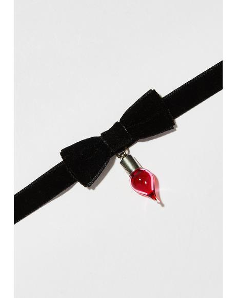 Little Witch Bow Choker