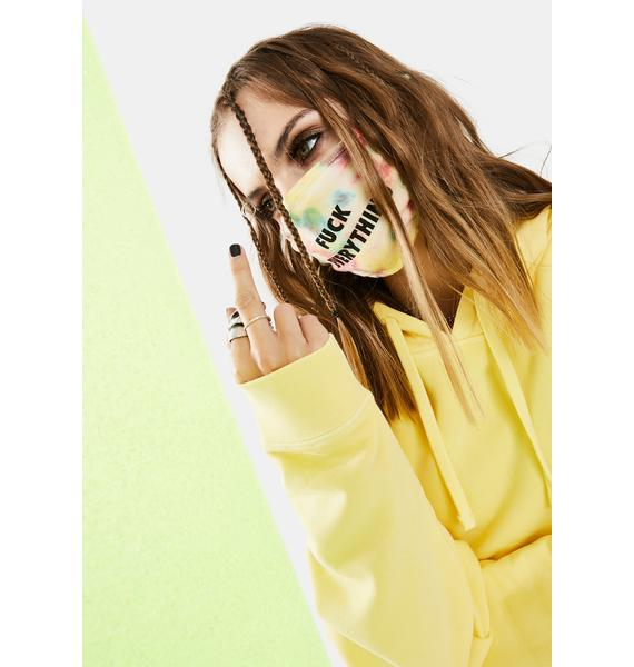 Kill Brand Fuck Everything Yellow Tie Dye Face Mask