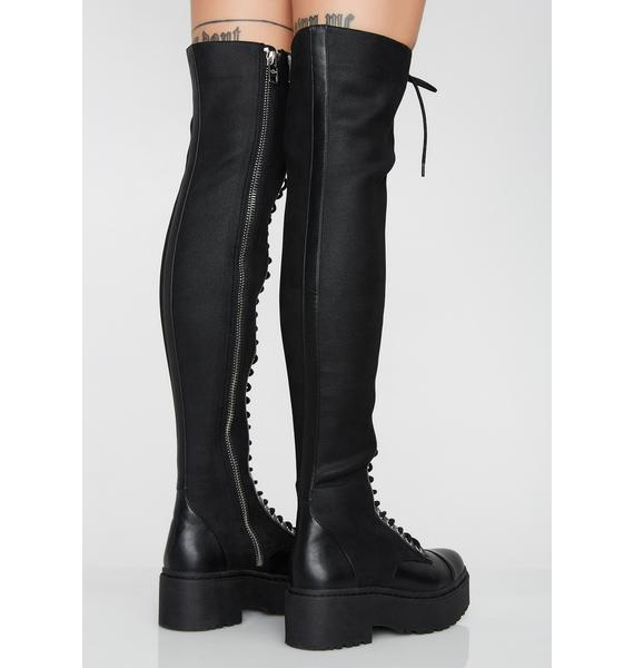 Current Mood Action Scene Thigh High Boots