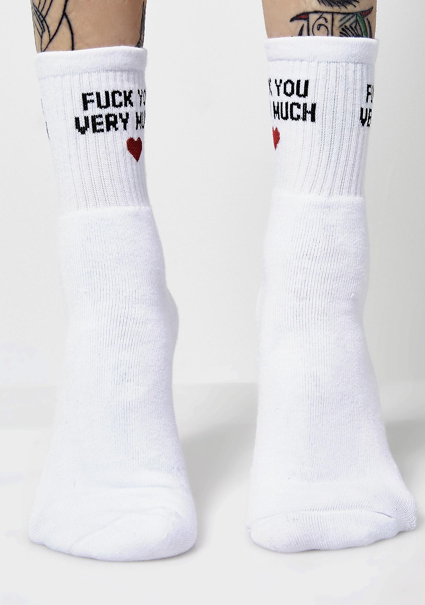 Local Heroes Fuck You Very Much Socks