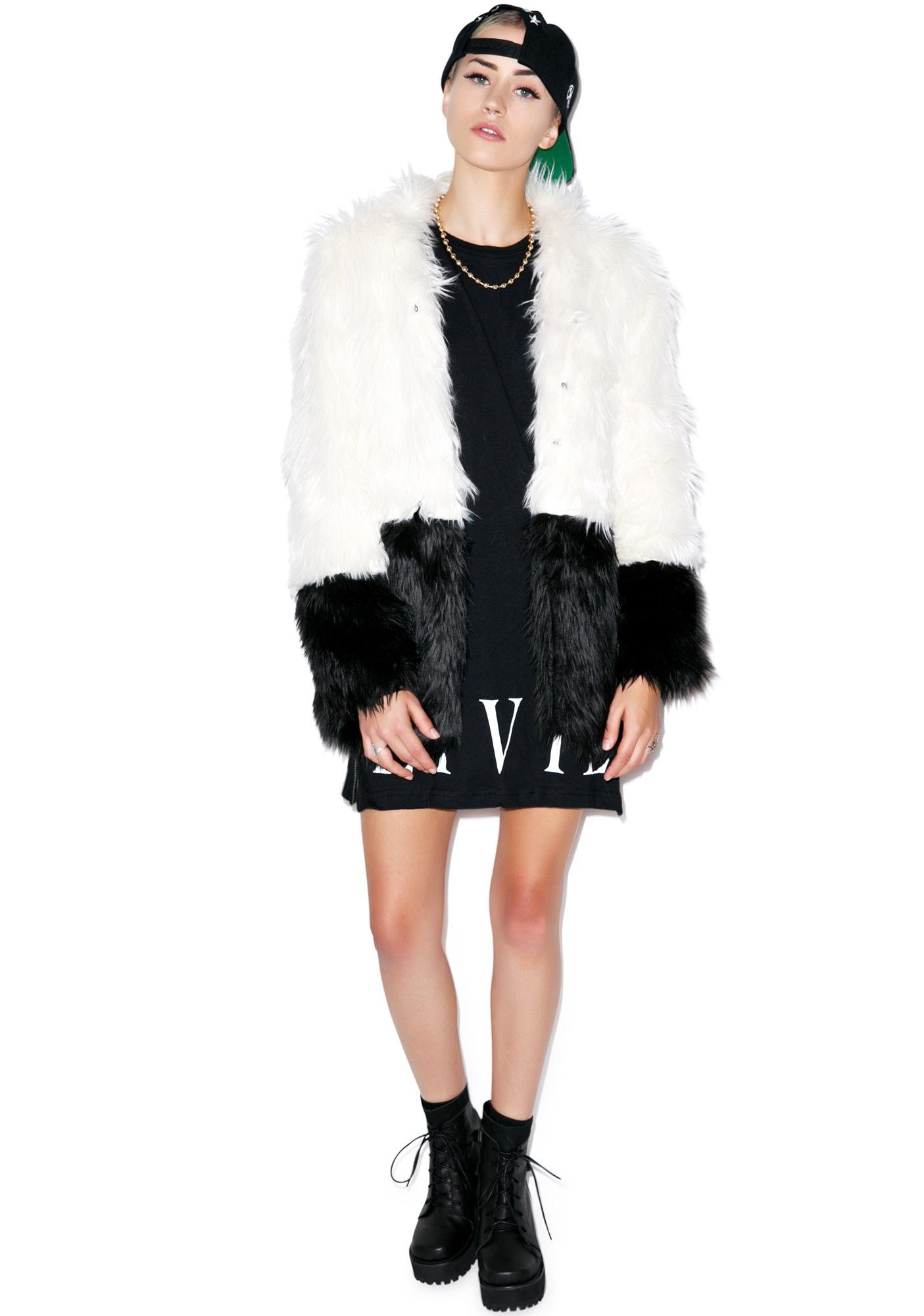 Civil Clothing Sharon Two Tone Faux Fur Coat