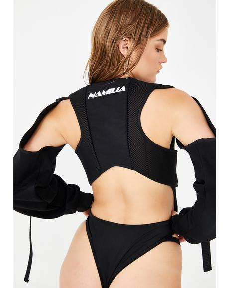 Tactical Bodysuit With Detachable Sleeves