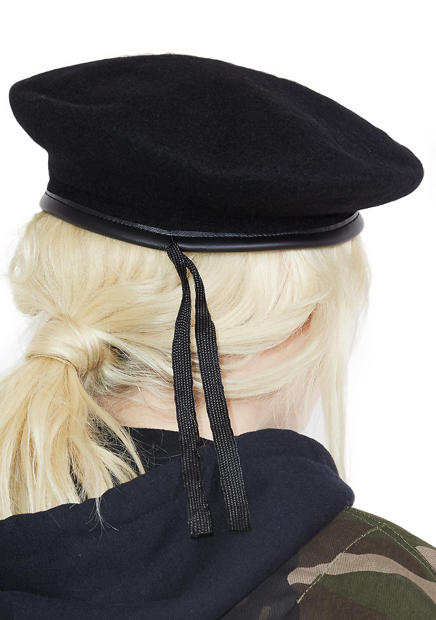 Midnight Wool Monty Beret