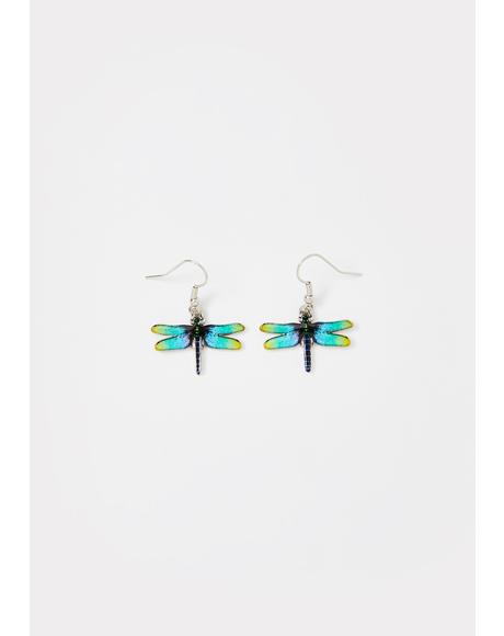 Fly With Me Dragonfly Earrings