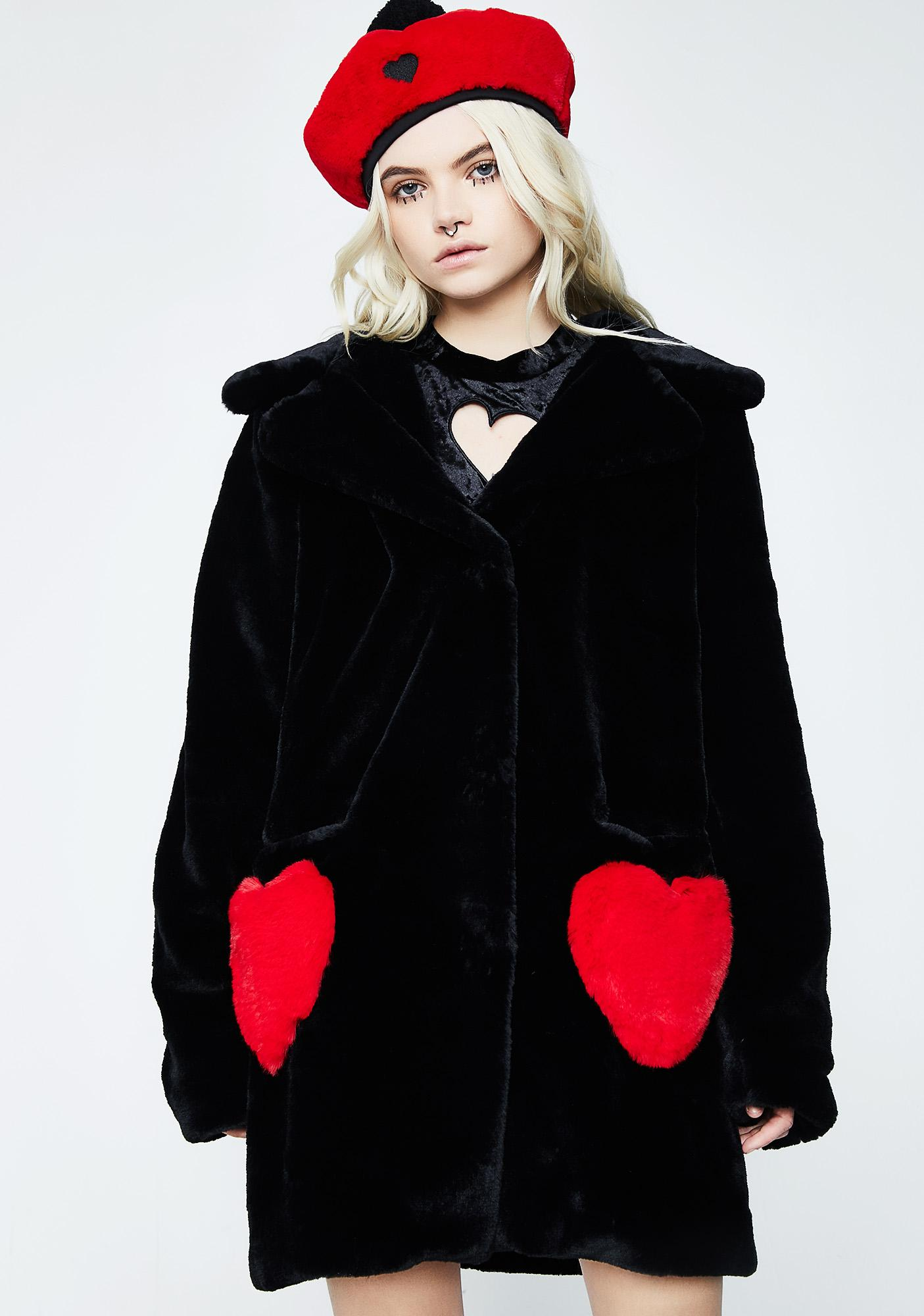 Lazy Oaf Queen Of Hearts Coat