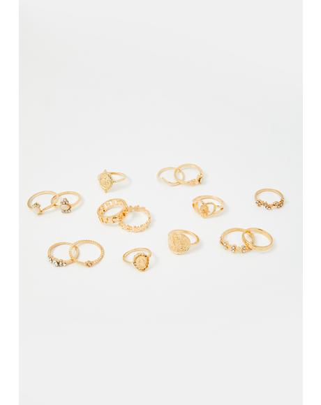 Golden Hour Ring Set
