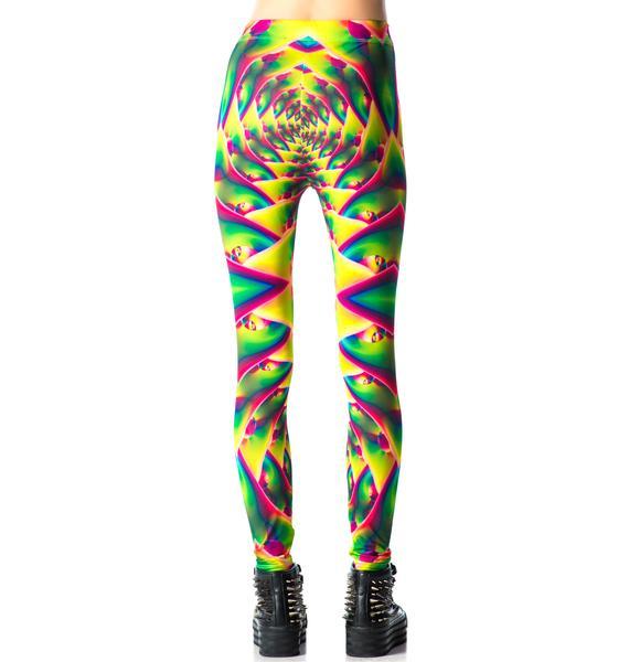 Lip Service Psychedelic Fractals Printed Leggings