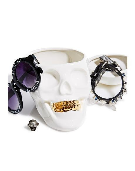 The Oracles Skull Jewelry Holder Organizer